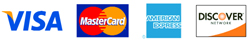 Visa, Mastercard, American Express and Discover accepted.